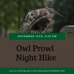 October Owl Prowl & Night Hike